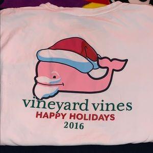 Vineyard Vines Happy Holidays 2016 Long Sleeve